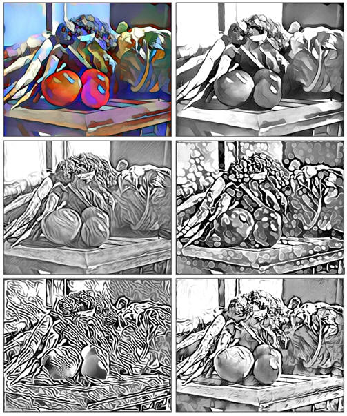 Five Free and Fun Coloring Pages: The Gargen Harvest, by Don Berg at TodaysArts.net