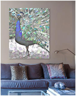 Check out the big blue peacock prints and canvases at Fine Art America.
